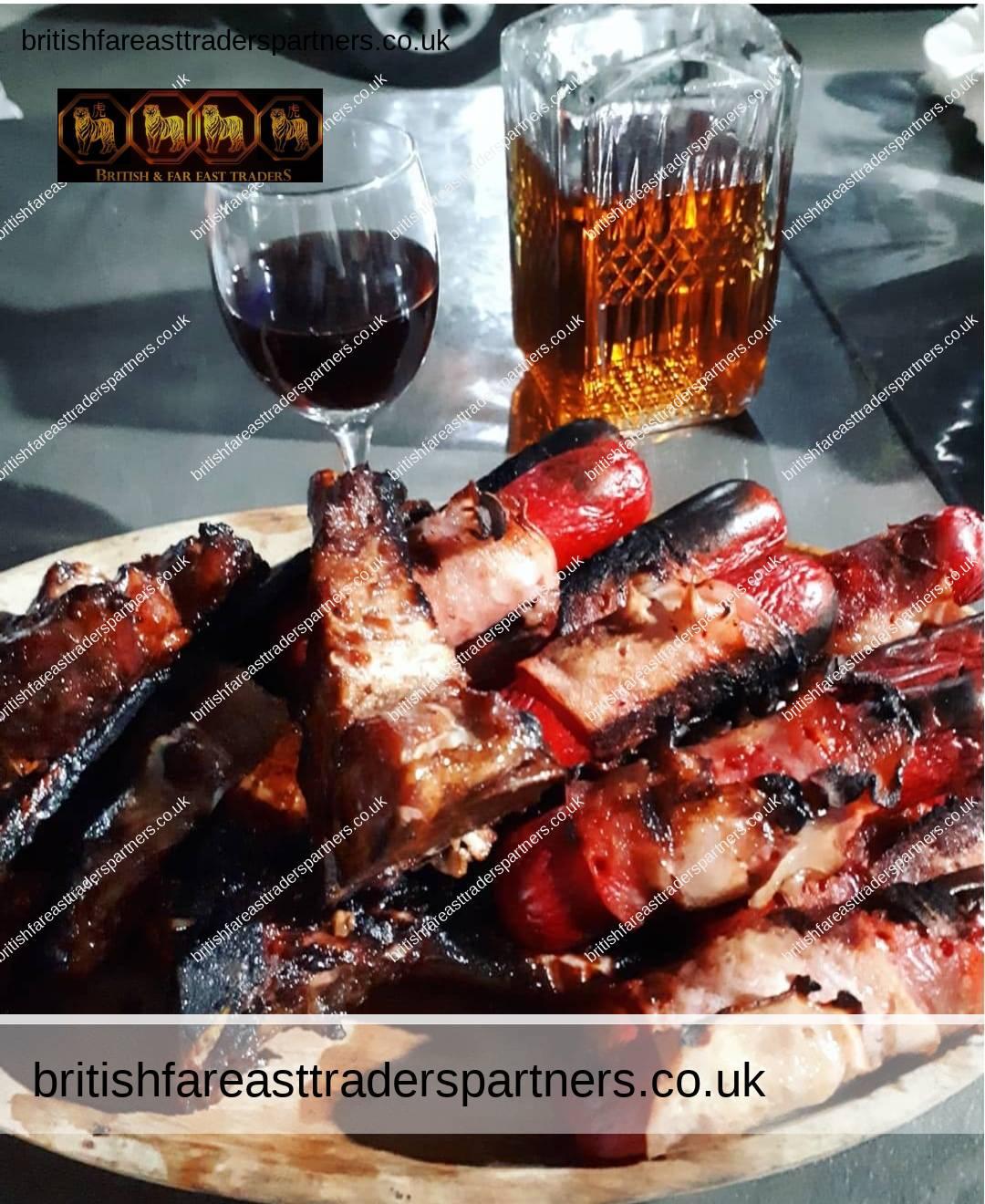 barbecue hotdogs and spare ribs