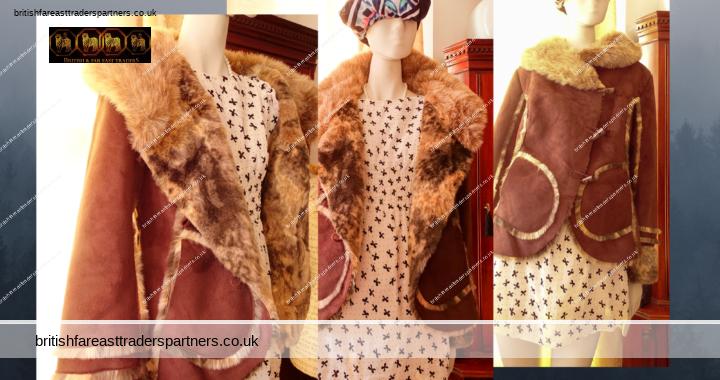 JOE BROWNS Ladies/Women's UK 14 VINTAGE LOOK SUPER SOFT & STUNNINGSuede style Faux FurLined Jacket Dark Brown VGC
