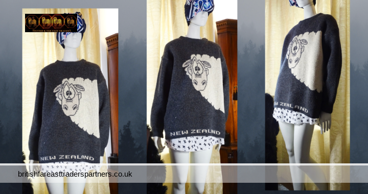 FASHION INSPIRATION: 100% WOOL New Zealand  Sweater Jumper  Ladies Men's Unisex XS  Cute SHEEP Cosy  Hard to Find (HTF) Very Good Condition (VGC)