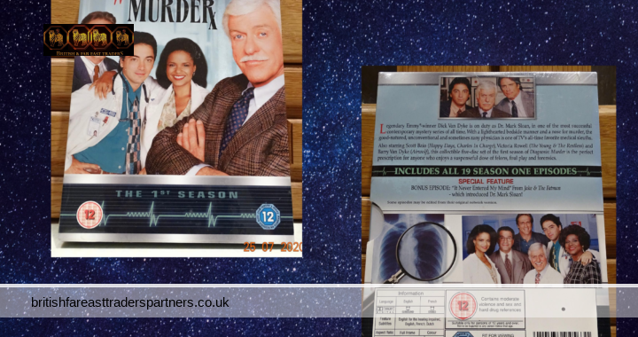 NEW & SEALED  Diagnosis Murder: The Complete 1st Season  5 DVD BOX SET  HARD TO FIND (HTF) VERY GOOD CONDITION (VGC)
