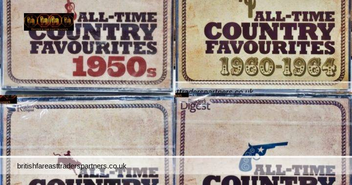 JOBLOT Sealed READERS DIGEST All Time Country Favourites 4 Sets of 3 CDs ( 12 CDs ) GREATEST HITS | LEGENDS | 1950s | 1960- 1964 COLLECTABLES | MUSIC | CDS