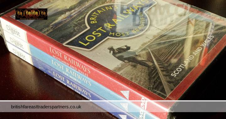 READER'S DIGEST 2010 BRITAIN'S Most Beautiful LOST RAILWAYS New & Sealed 3 DVDs COLLECTABLE NOSTALGIA HERITAGE / HISTORY RAILWAYANA