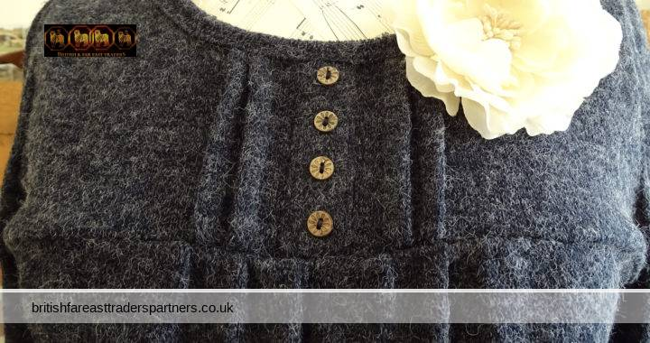 FASHION INSPIRATION: DRESSY JUMPER WITH CUTE WHITE LACE COLLAR + BUTTON ACCENTS + AZTEC TRIMMINGS