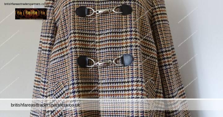 FASHION INSPIRATION: VINTAGE RETRO Style Ladies Tweed Poncho Cape Jacket Coat UK 16 Buckle Front
