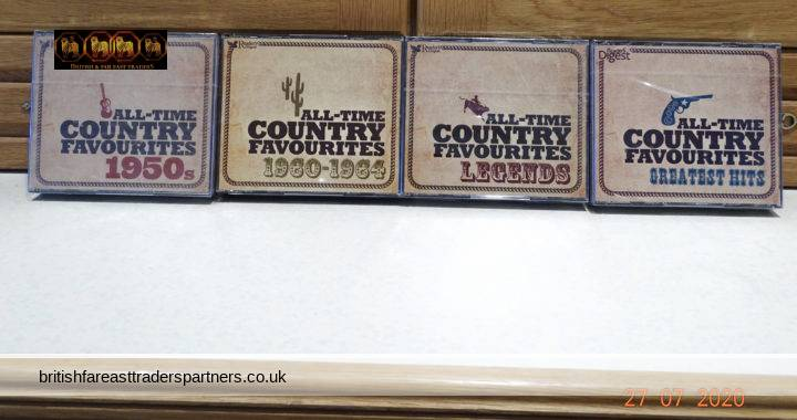 JOBLOT Readers Digest  All Time Country Favourites  4 Sets of 3 CDs ( 12 CDs )