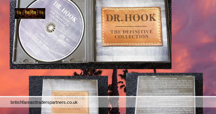 Dr. Hook : The Definitive Collection  3 Audio CDs + Booklet Readers Digest  VGC HTF