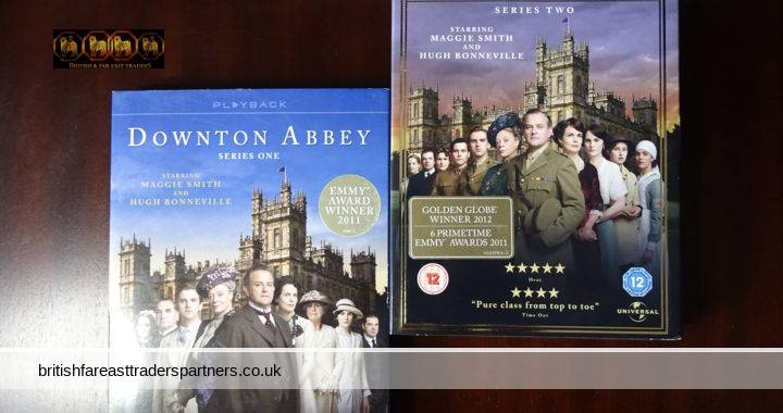 CARNIVAL  FILM & TELEVISION DOWNTON ABBEY SERIES 1 & 2  ENGLISH COSTUME DRAMA DVD COLLECTION Maggie Smith  Hugh Bonneville  NEW & Sealed