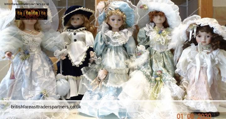 VINTAGE French Fashion Costume Porcelain Bisque Head Dolls Poupees de collection Collection Poupees Carine Collectibles