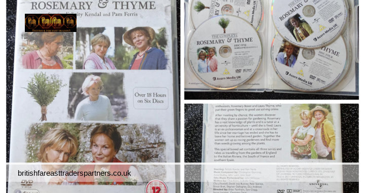 Rosemary and Thyme:  The Complete Series 1-3 DVD (2011)  Starring Felicity Kendal &  Pam Ferris