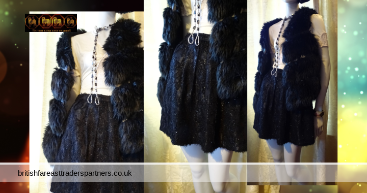 TOPSHOP Black Fluffy Sparkly High Waisted Mini Balloon PARTY Cocktail Skirt UK 8 VGC