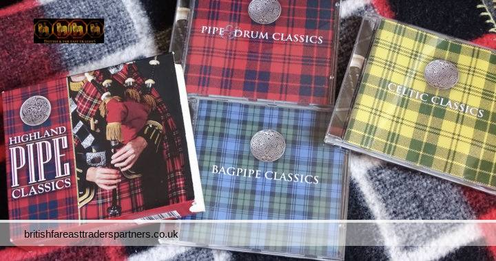 Highland Pipe Classics 3 CD Set : Bagpipe / Pipe & Drum / Celtic Classics VGC