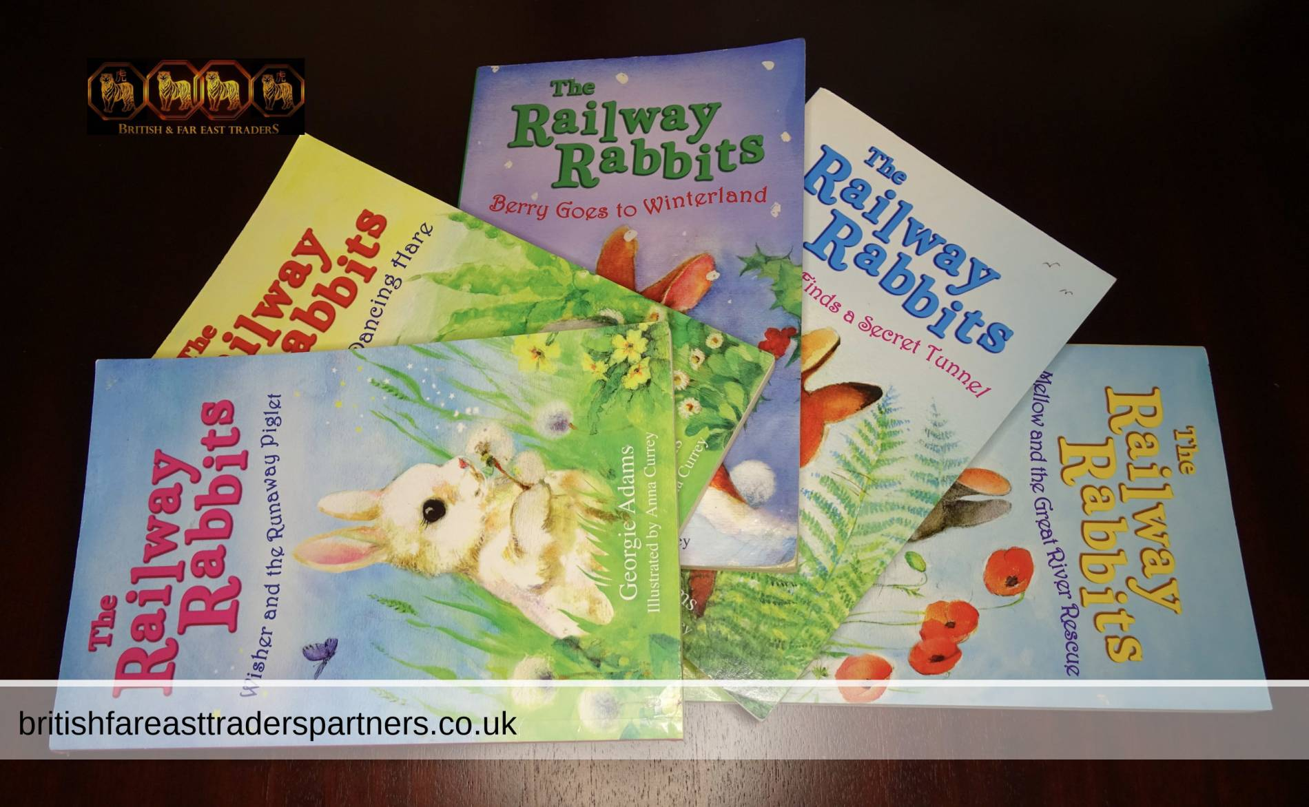 Kids / Children's 5 Illustrated Story Books The Railway Rabbits By Georgie Adams Illustrated by Anna Currey Paperback Bundle GC