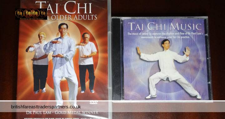 Dr Paul Lam TAI CHI For Older Adults DVD + TAI CHI Music CD by Jenny Ly New & Sealed TAI CHI Bundle