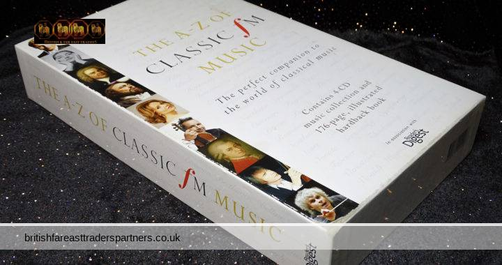 READER'S DIGEST 2010 The A-Z of Classic Fm Music 4 CDs & 176 Pages Illustrated Hardback Book BOX SET