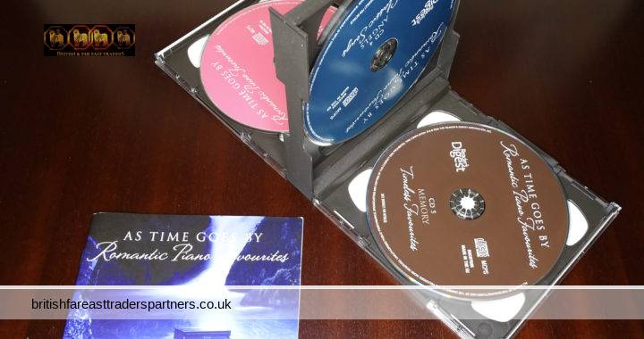 READER'S DIGEST AS TIME GOES BY Romantic Piano Favourites 5 CD Set + Booklet