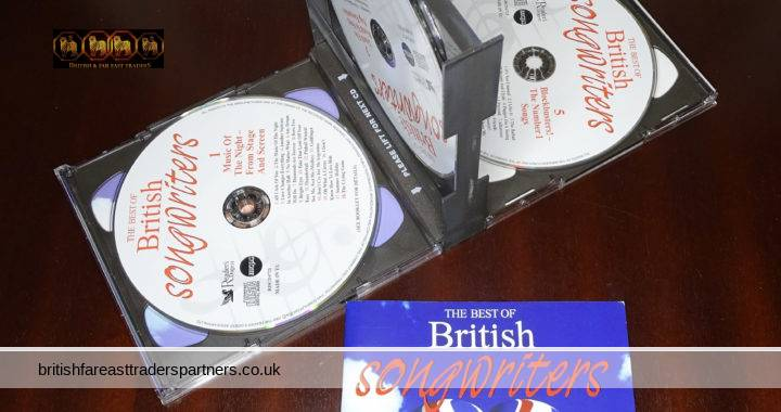READER'S DIGEST The Best Of British Songwriters : The Undiscovered Heroes of British  5 CD Set