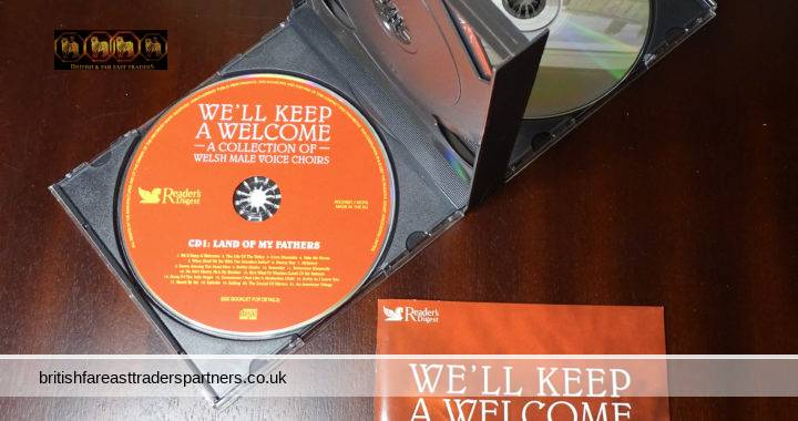 READER'S DIGEST WE'LL KEEP A WELCOME: A Collection Of Welsh Male Voice Choirs 3 CD Box Set + Booklet