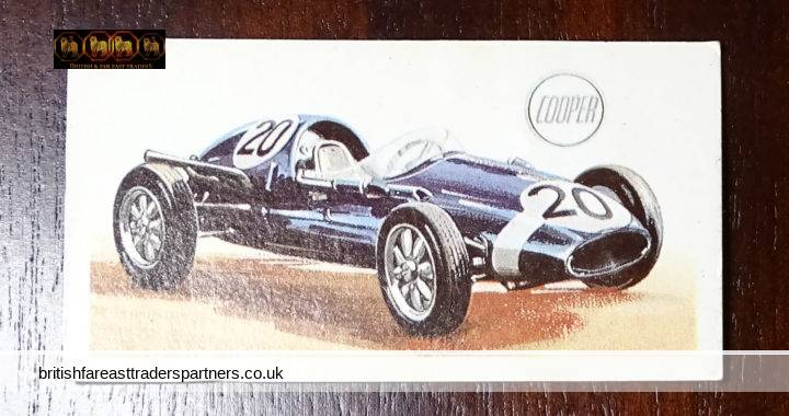 1958 COOPER-CLIMAX GRAND PRIX, 1.96 LITRES (GB): HISTORY OF THE MOTOR CAR: Illustrated by Kenneth Rush Described by Peter Hull: Issued with BROOKE BOND TEA And Tea Bags, Heathrow House, Cranford, Middlesex