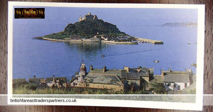 DISCOVERING OUR COAST:  ST. MICHAEL'S MOUNT CORNWALL:  BROOKE BOND OXO LTD CARD 32 IN A SERIES OF 50
