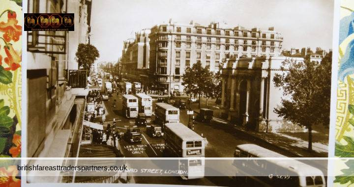 VINTAGE Marble Arch & Oxford Street LONDON England VALENTINE'S Real Photo Post Card UNPOSTED VGC