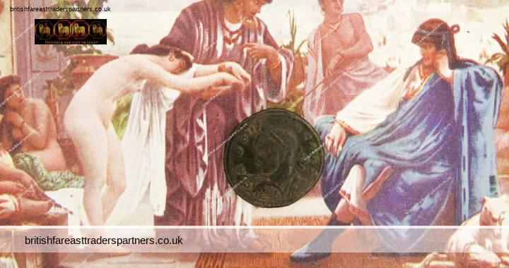 ANCIENT ROMAN COIN 317-326 AD CAESAR Flavius Julius Crispus Junior Emperor of CONSTANTINE THE GREAT BYZANTINE EMPIRE Bronze Coin