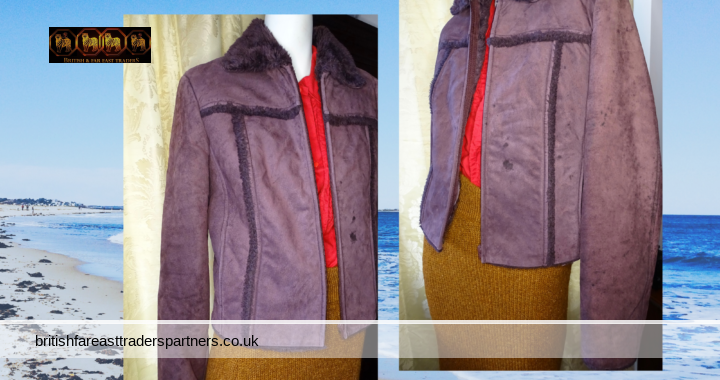 Mango MNG Real Genuine 100% Pig Leather Suede Style 100% Acetate Lined Cocoa Colour OUTDOORS JACKET UK XL / E XL /F XL / D XL / USA L / MEX EG