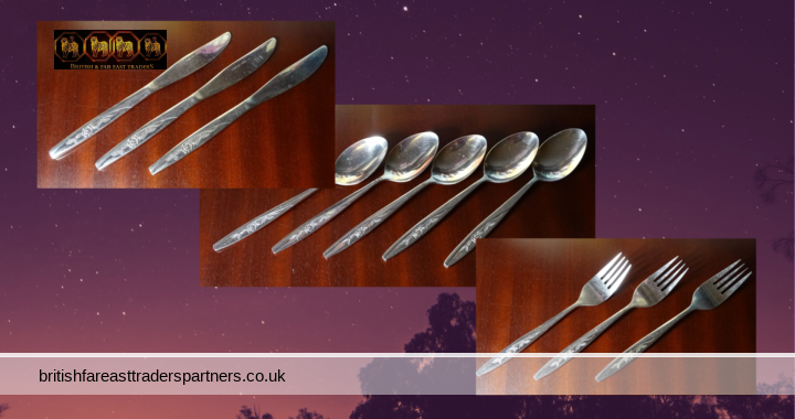 VINTAGE VINERS SPRING ROSE Stainless Steel Cutlery 11 Items Mixed Lot JOBLOT VGC