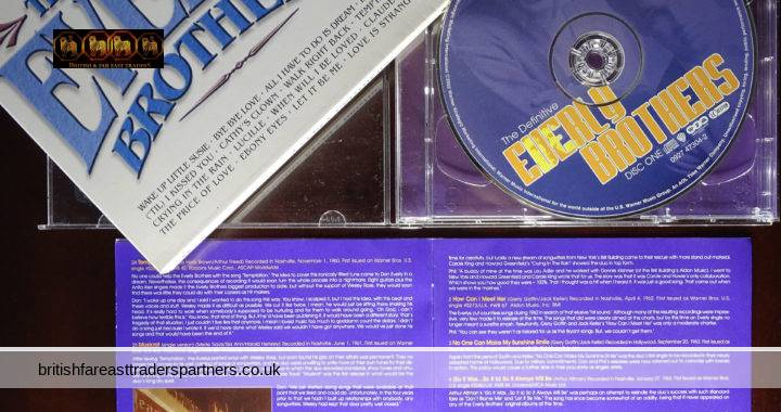 2002 WARNER MUSIC EUROPE The Definitive Everly Brothers 50 TRACKS + Booklet 2 CD Set