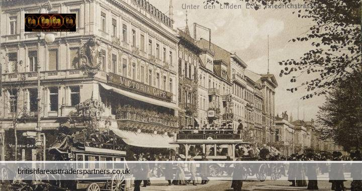 ANTIQUE Early 20th Century VICTORIA CAFE Friedrichstrass Berlin GERMANY Used POSTCARD HISTORY / TOPOGRAPHY / FASHION HIGHLY COLLECTABLE