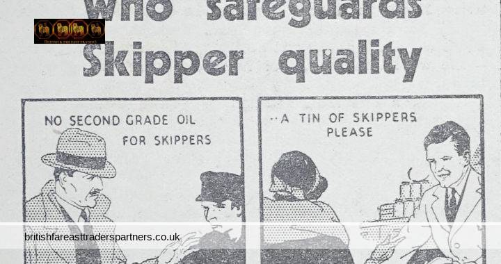 RARE VINTAGE March 24, 1934 COLLECTABLE SKIPPERS Fish Sardines in Tin Woman's Weekly Illustrated Advertisement