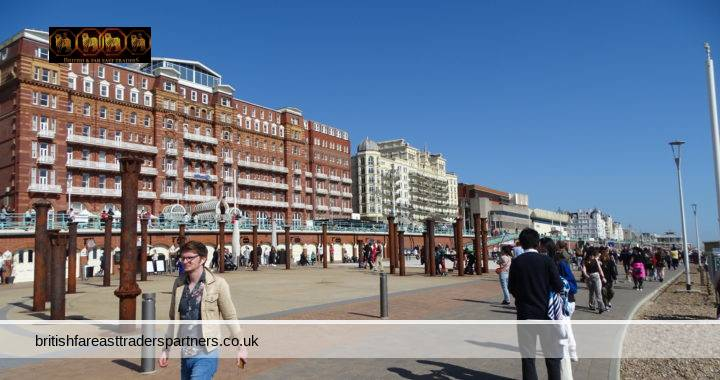 ANOTHER SUNNY DAY IN SPRINGTIME: A LOVELY WALK IN BRIGHTON & HOVE BEACH AND SEAFRONT, ENGLAND