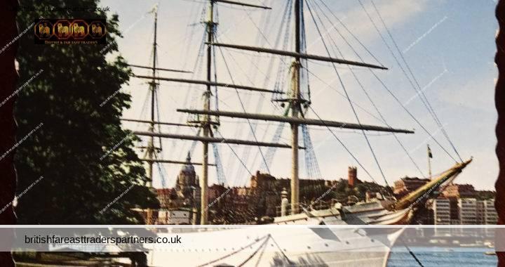 VINTAGE 20 JULY 1964 Steel Ship af CHAPMAN Stockholm SWEDEN G. Algara RPPC SEA TRANSPORT TOPOGRAPHICAL Postcard