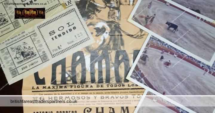 VINTAGE 15th August 1963 LOT of 7 JOSE LUIS ANDRES Lloret de Mar Plaza de Toros GRANDIOSA CORRIDA DE TOROS EXTRAORDINARY BULLFIGHT CHAMACO CHICUELO EL TRIANERO COLLECTABLE MEMORABILIA POSTER , PHOTOS, TICKETS