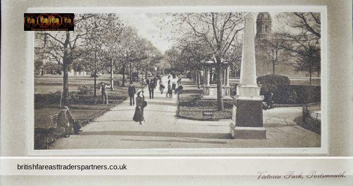 ANTIQUE 1915 Victoria Park PORTSMOUTH Hampshire ENGLAND J Welch & Sons Photographic Publishers Topographical POSTCARD RPPC