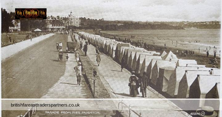 VINTAGE 19 JULY 1926 Parade from Pier Paignton DEVON Addressee Resided ROSE VILLA GRADE II Listed 1977 BRISLINGTON BRISTOL ENGLAND UK VALENTINE'S PHOTO BROWN SERIES COLLECTABLE Topographical HOLIDAY FASHION RESEARCH POST CARD
