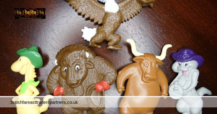 Lot of 5 PVC Plastic ANTHROPOMORPHIC Animals BIBLE Memory Verses BUDDIES TOYS COLLECTIBLES RELIGION CHRISTIANITY