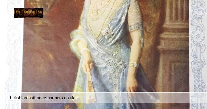 VINTAGE MAY 11, 1935 Her Majesty the Queen QUEEN MARY Lady of the Order of the Garter After the PAINTING by Arthur Trevethin Nowell COLLECTABLE ROYALTY MEMORABILIA JEWELLERY FASHION & BEAUTY EPHEMERA