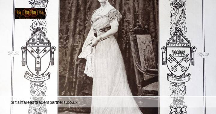 ANTIQUE JUNE 24 1911 Queen Mary's Favourite PORTRAIT SPECIAL SITTING Given to Mr. SPEAIGHT 157 New Bond Street W. ROYALTY COLLECTABLES BEAUTY & FASHION EPHEMERA