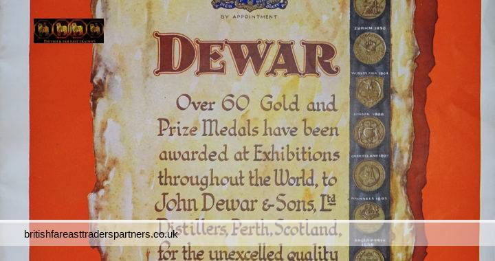 VINTAGE May 11, 1935 DEWAR Seals of Quality 60 GOLD & Prize Medals John Dewar & Sons Ltd SCOTCH WHISKY THE JUBILEE SPIRIT THE ILLUSTRATED LONDON NEWS COLLECTABLE ADVERTISEMENT EPHEMERA