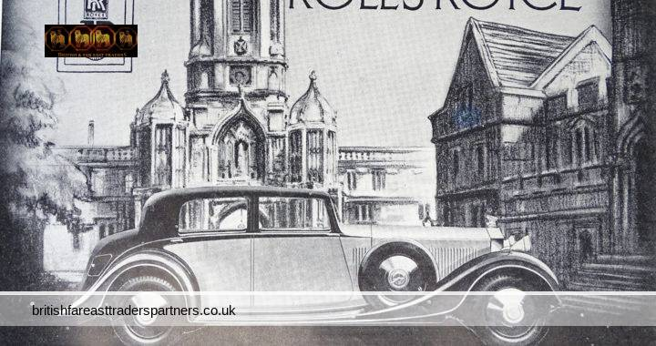 VINTAGE 11th MAY 1935 ROLLS-ROYCE Jack Barclay Ltd The Illustrated LONDON News CLASSIC CARS / VINTAGE CARS / SPORTS CARS COLLECTABLE EPHEMERA TRANSPORTATION Advertisement