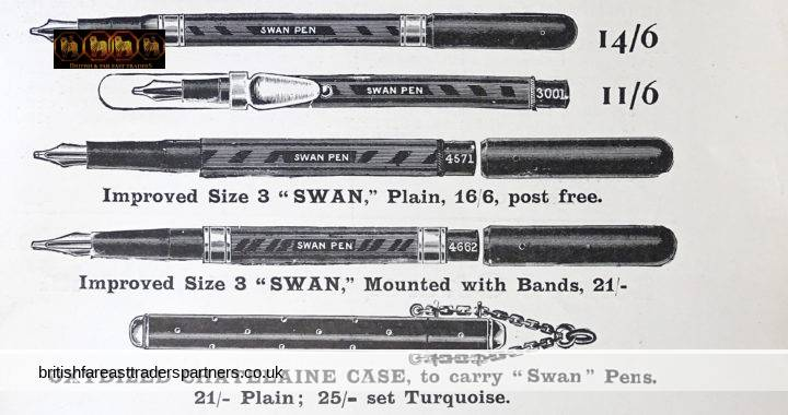 ANTIQUE 9th February 1901 SWAN Pens MABIE, TODD & BARD Cheapside LONDON The SPHERE Magazine Clipping / Cutting COLLECTABLE WRITING EPHEMERA Advertisement