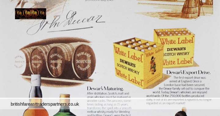 VINTAGE 1982 DEWAR'S Scotch Whisky What's in a NAME Cunard Cruise MAGAZINE COLLECTABLE PRINT ADVERTISEMENT