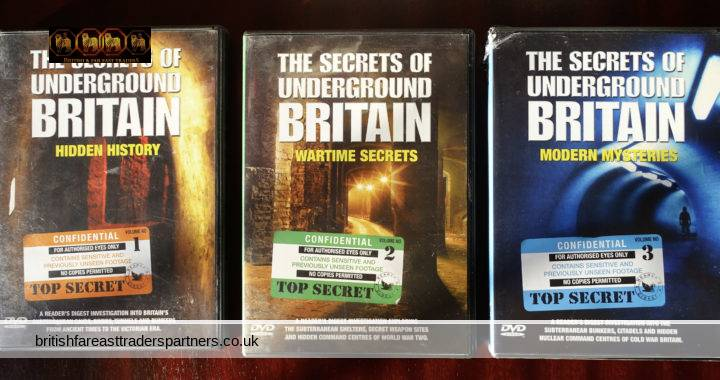READER'S DIGEST 2008 The SECRETS of UNDERGROUND BRITAIN HIDDEN HISTORY WARTIME SECRETS Lot of 3 DVDs COLLECTABLE HISTORY  HERITAGE WAR TOPOGRAPHY