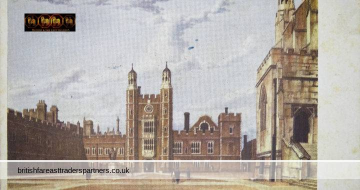 VINTAGE Eton College Great Court 1816 BERKSHIRE Collectable POSTCARD EDUCATION /  HISTORICAL /  TOPOGRAPHICAL