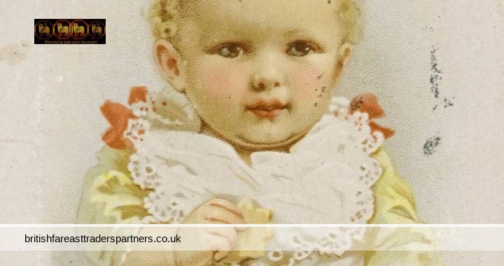ANTIQUE French VICTORIAN CH Knorr Heilbronn Malted Oat Flower Flour COLLECTABLE TRADE CARD