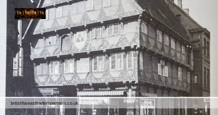 VINTAGE / ANTIQUE Circa 1900s Hoppener Haus FAMOUS Timber-Framed House CELLE Altstadt Old Market Town Lower Saxony GERMANY COLLECTABLE PHOTO PRINT ARCHITECTURE HERITAGE / HISTORY TOPOGRAPHICAL TOURS & TRAVEL EUROPE