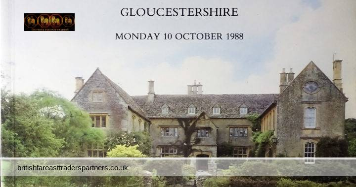 VINTAGE 10 OCTOBER 1988 Hawling Manor GLOUCESTERSHIRE PROPERTY of the Late Mrs. J.H. DENT-BROCKLEHURST CHRISTIES'S SOUNTH KENSINGTON LTD. LONDON In Association With YOUNG AND GILLING CHELTENHAM AUCTION Catalogue