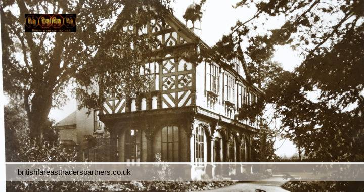 VINTAGE THE GRANGE HISTORIC BUILDING TIMBER FRAME LEOMINSTER , HEREFORDSHIRE ENGLAND VALENTINE'S  COLLECTABLE RPPC Post Card HISTORICAL / TOPOGRAPHICAL / TOURISM / TRAVEL / ARCHITECTURE
