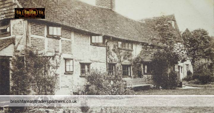 VINTAGE SIX BELLS COTTAGE NEWDIGATE 1921 SURREY, ENGLAND VULCAN SERIES PUBLISHED BY M. DEAN  COLLECTABLE RPPC Post Card HISTORICAL / TOPOGRAPHICAL / TOURISM / TRAVEL / ARCHITECTURE