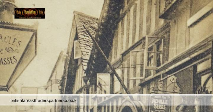 VINTAGE / ANTIQUE NOVEMBER 29TH 1913 THE SHAMBLES BRADFORD-ON-AVON WILTSHIRE, ENGLAND PICTURESQUE TIMBER HOUSES PUBLISHED BY R. WILKINSON & CO TROWBRIDGE  COLLECTABLE RPPC Post Card HISTORICAL / TOPOGRAPHICAL / TOURISM / TRAVEL / ARCHITECTURE / ADVERTISING /  SOCIAL HISTORY
